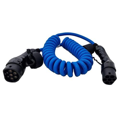 3-EV Type2 -> Type2 spiral (3x16A) Cabluri EV