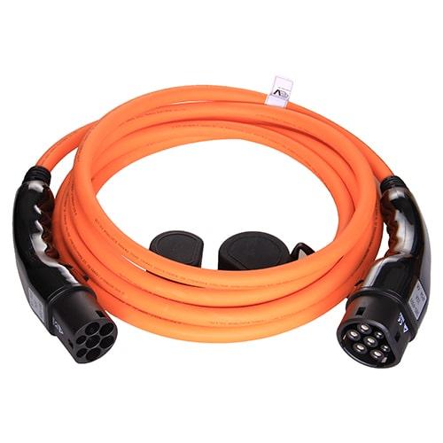 1-EV Type2 -> Type2 orange (3x32A) Cabluri EV
