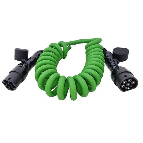 3-EV Type2 -> Type2 spiral (3x32A) Cabluri EV