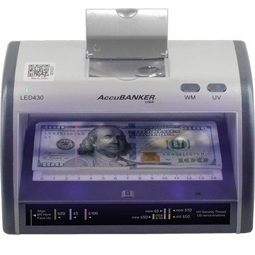 1-AccuBANKER LED430 verificator de bancnote